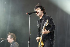 Color photo of Billie Joe Armstrong live.