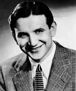 Black and white head shot of a young Raymond Scott.
