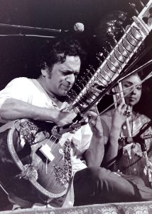 Ravi Shankar playing to sitar.