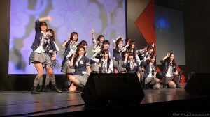 AKB48 performing live.