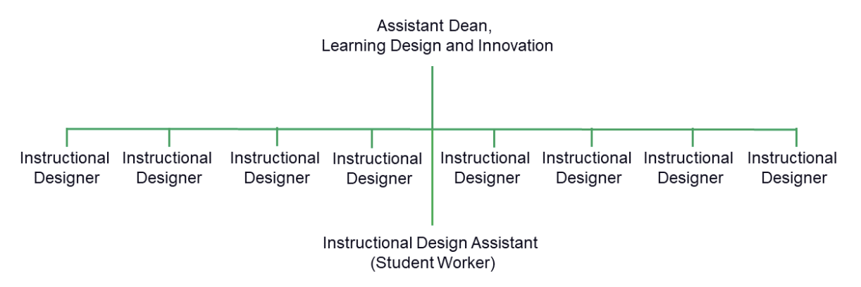 Image of the Center for Learning Design team structure