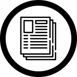 Journal article icon shows many pages full of text