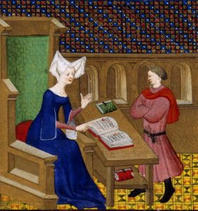 Christine de Pisan and her son