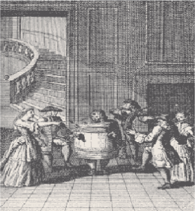 Love in a Tub scene from restoration comedy