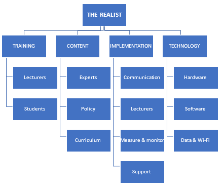 Figure 5.4: Realist: Themes and Subthemes