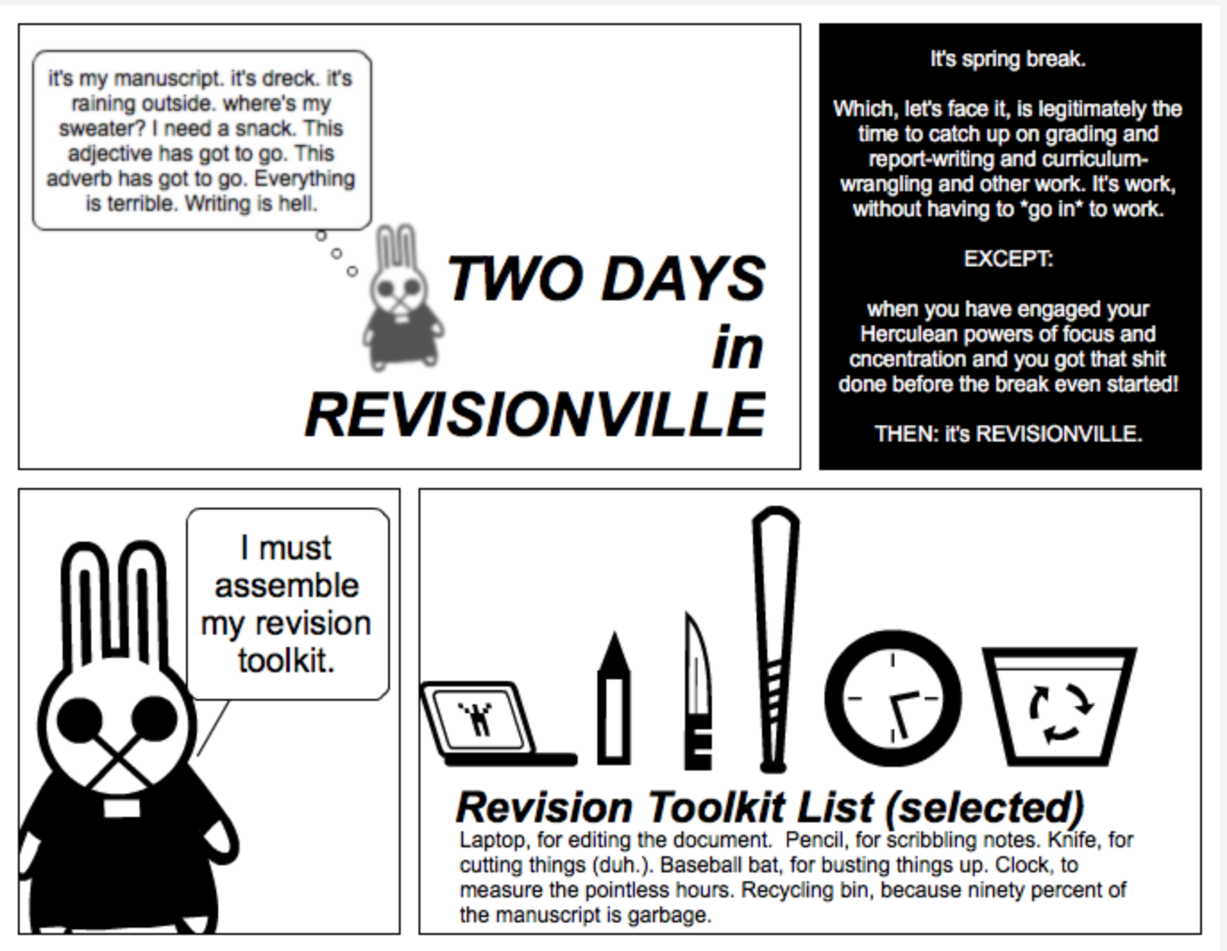 A comic on the promises and perils of living in . . . REVISIONVILLE