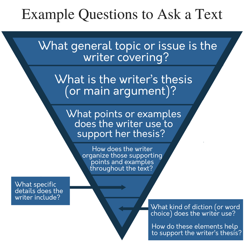 Example Questions to Ask Text