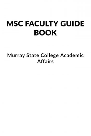 Cover image for Murray State College Faculty Guide Book