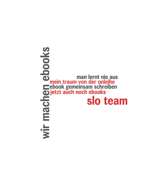 Cover image for wir machen ebooks