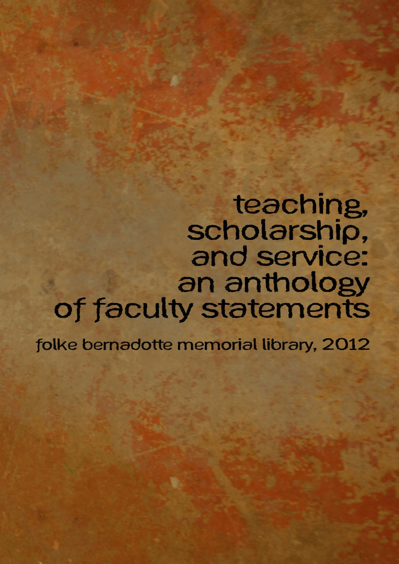 Cover image for Teaching, Scholarship, Service